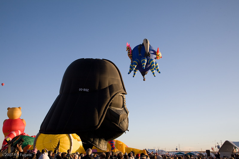 Darth Vader balloon -- from Belgium