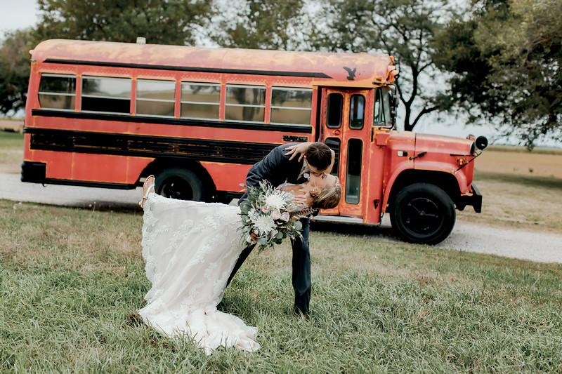 Mr + Mrs w/ Party Bus