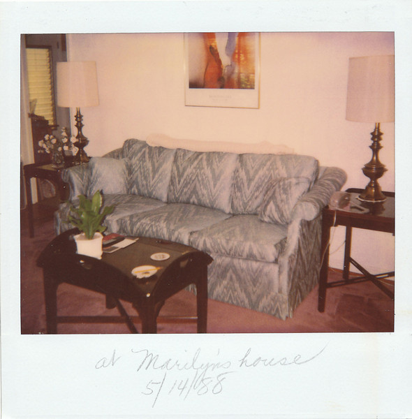Marilyn's new house--May 1988