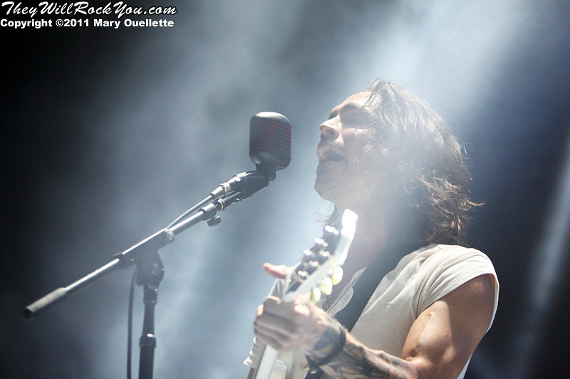 "Incubus performs on September 9, 2011 in support of ""If Not Now, When?"" at Comcast Center in Mansfield, Massachusetts"