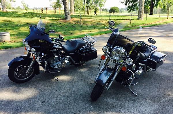 Veronica Dark and Stella Grey at Dr. Dave's Harley Shop, Apison, TN.