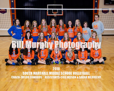 2018 South Marshall Middle School Volleyball