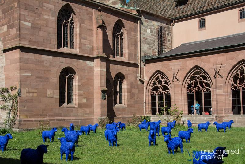 Blue Sheep at Munster Church - Basel, Switzerland
