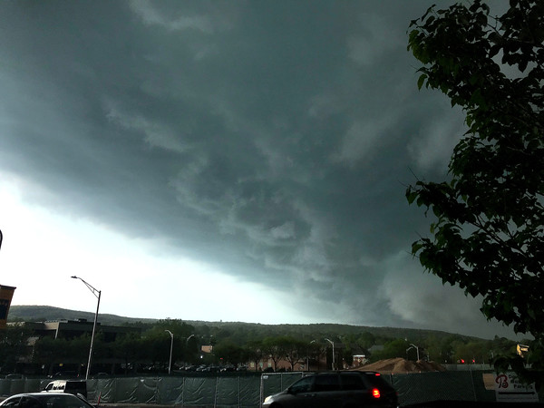5/15/2018 Mike Orazzi | Staff Storm clouds move over Bristol Tuesday afternoon.
