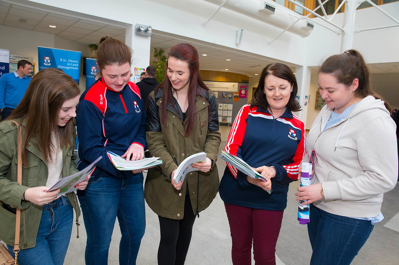Pictured at the CAO Information Evening at WIT Main Campus are Emma Reilly Kildare, Roisin O'Donnell, Student Ambassador and President Scholarship Student, Niamh Reilly Kildare, Maria Ronan Student Ambassador and Rebecca Browne Kildare. Picture: Patrick Browne  The event gave school leavers, parents, mature students a chance to learn more about areas of study they're interested in and learn about student life at WIT. The evening featured: lecturers were available to talk about specific course information; current students were on hand to talk about their college experiences; fees and grants and student supports information; chance to take a tour of the campus and facilities; book on-campus accommodation.   Elaine Larkin, PR Executive, WIT 051-845577