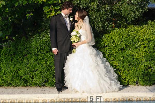Beautiful bride, handsome groom