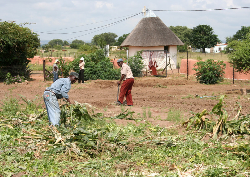 working at the YWAV site.  dennilton, south africa