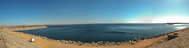 Panorama of the Aswan Dam in Egypt