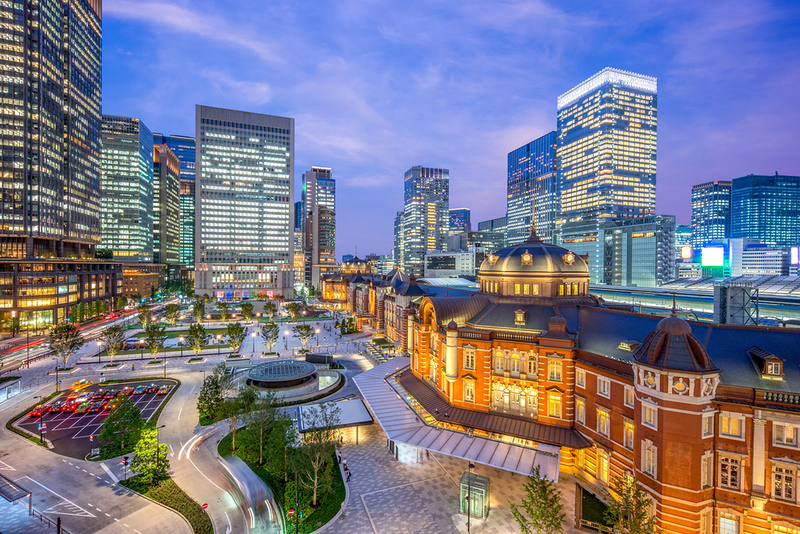 Marunouchi side of Tokyo Station. Editorial credit: Richie Chan / Shutterstock.com