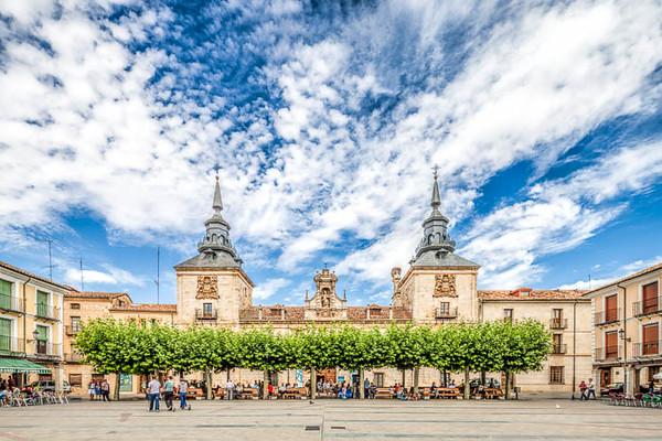 Hospital de San Agustin, Plaza Myor (Main Square), Burgo de Osma, Soria, Spain