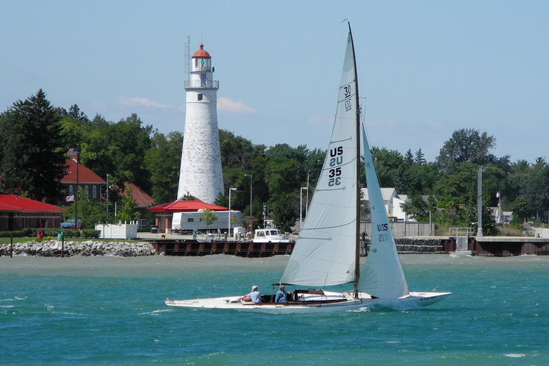 Fort Gratiot Light, entrance to St. Claire River off Lake Huron