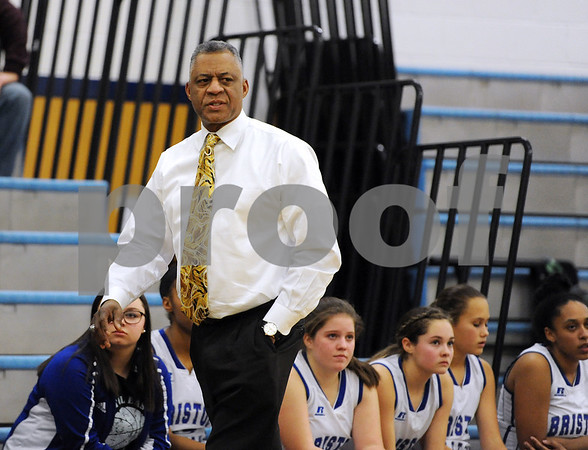 1/18/2018 Mike Orazzi | Staff Bristol Eastern's Tony Floyd during the girls basketball game at BEHS Thursday night.
