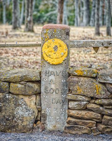 Cedar County Rock Fence