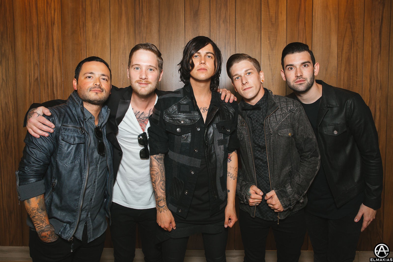 Sleeping With Sirens before the Alternative Press Music Awards