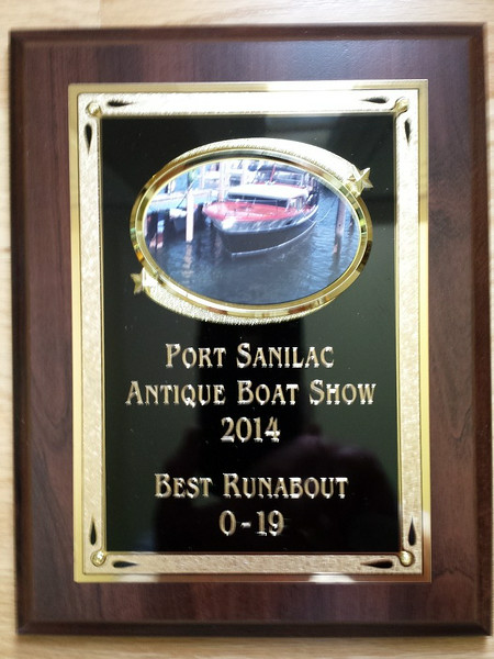 This is the second time this boat won best in class. the first time was in 2010 at the Algonac boat show.