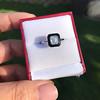 1.19ct Vintage Emerald Cut Diamond Onyx Ring, GIA E VS2 20