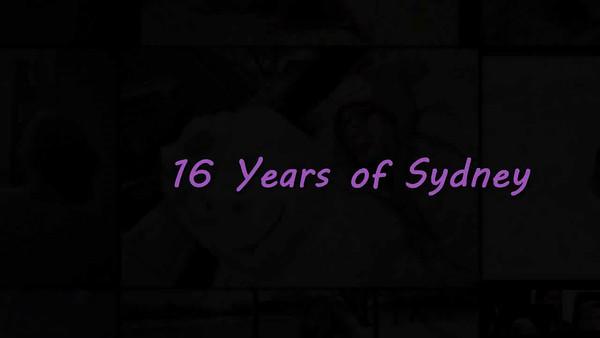 Sydney at 16