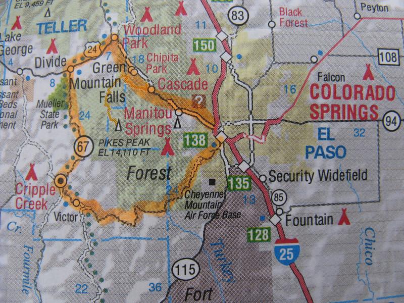 We've embarked on a big counter-clockwise loop around Pikes Peak.