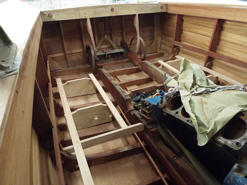 Rear floor framing on the starboard side.