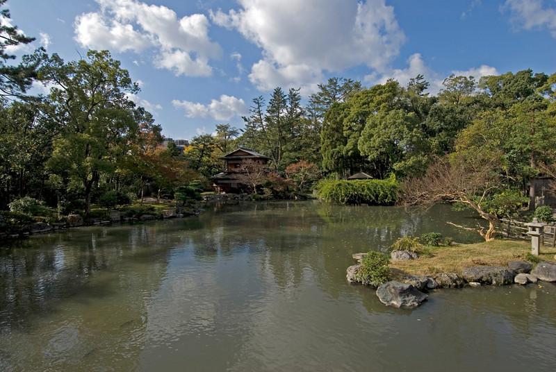 The serene Imperial Garden in Kyoto, Japan
