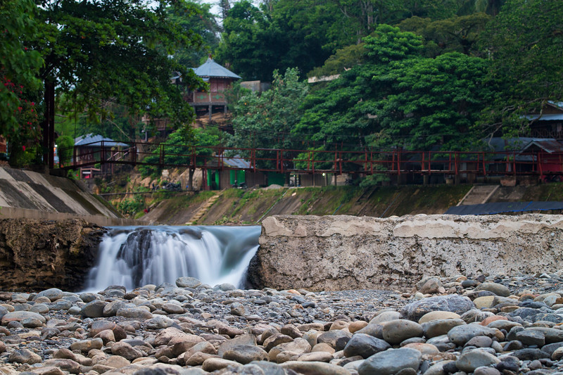 The jungle town of Bukit Lawang borders Gunung Leuser National Park and is an ideal base for trekking into Orangutan territory. One could also spend days lounging on the river watching monkeys play in the water.