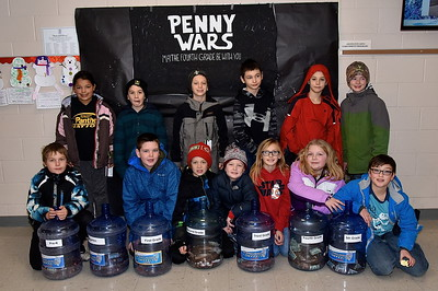 Fourth Grade Organizes Penny Wars photos by Gary Baker