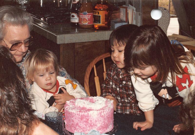 Frankie, Emily, Josh, Elizabeth. Dec 28 1986