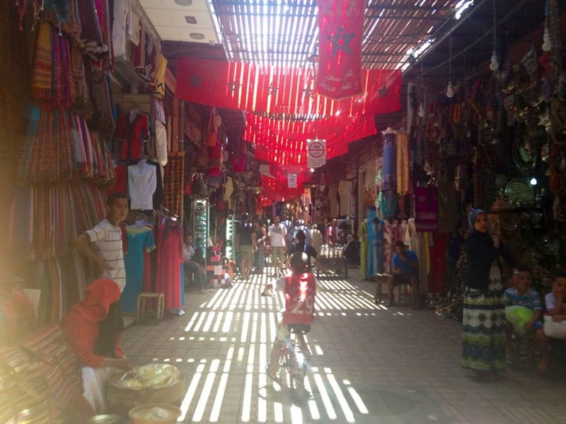 Tips for taking a Solo Female Trip to Morocco, including visiting the souks of Marrakesh.