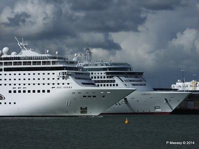 5 Cruise Ships S'ton 24 May 2014