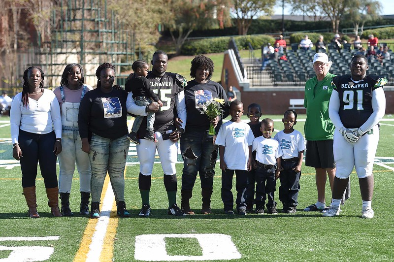 Belhaven University Football Seniors - November 11, 2017