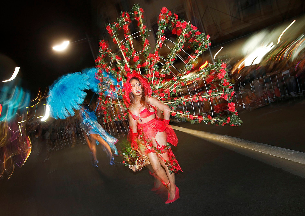 ". A member of the group ""Darlene\'s Transsexual Angels\"" participates in the 35th annual Sydney Gay and Lesbian Mardi Gras parade March 2, 2013. REUTERS/Tim Wimborne"