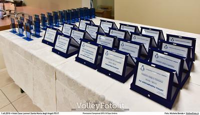 Premiazioni Campionati 2015-16 Fipav Umbria