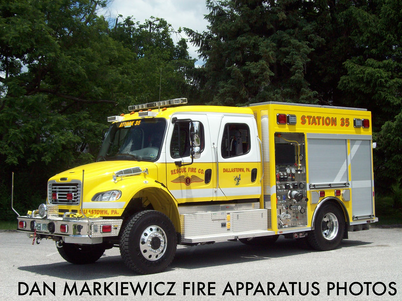 RESCUE FIRE CO. DALLASTOWN ATTACK 35 2013 FREIGHTLINER/SPARTAN ERV PUMPER