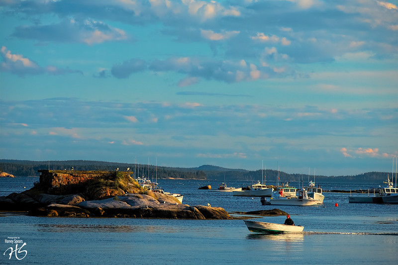 Sunset on Stonington Harbor