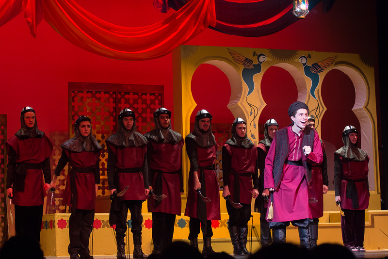 """The Wazir, Police, Wazir's Council  (""""Was I Wazir"""") -- Kismet, Montgomery Blair High School spring musical, April 15, 2016 performance (Silver Spring, MD)"""