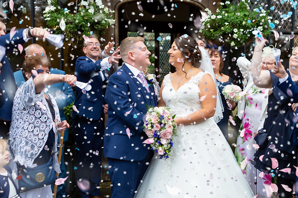 Claire and Anthony at Samlesbury Hall, Preston