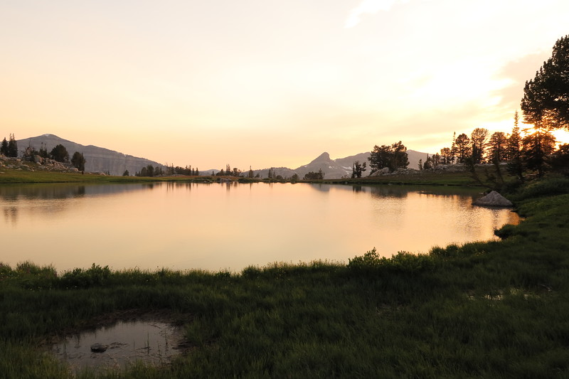 Sunset Lake at sunset