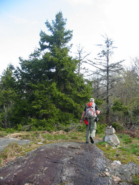 Joe on one of many Lambert Ridge ledges