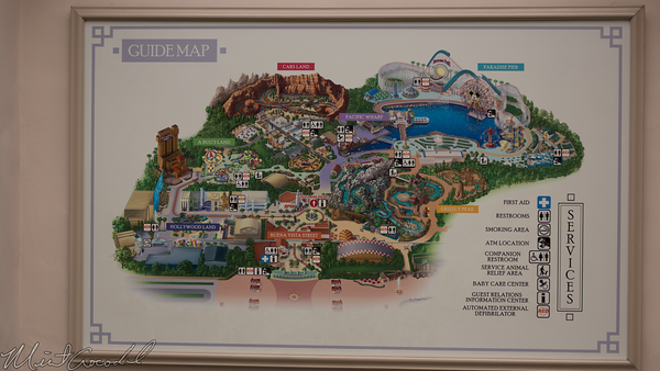 Disneyland Resort, Disney California Adventure, Buena Vista Street, Information Board, Map, Info, Condor Flats, Grizzly Peak