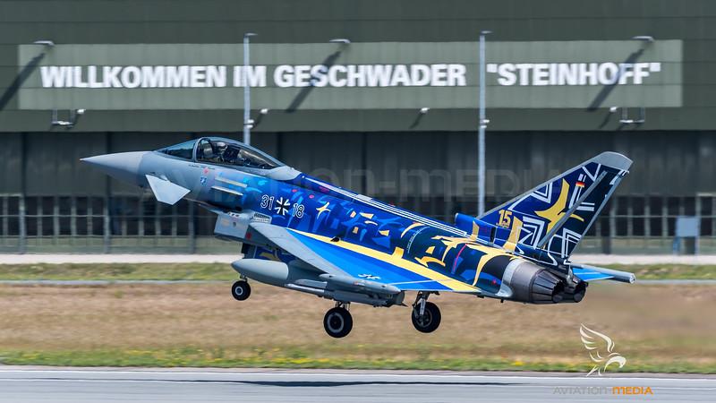 German Air Force TLG 73 / Eurofighter Typhoon / 31+18 / Carbon Warrior markings