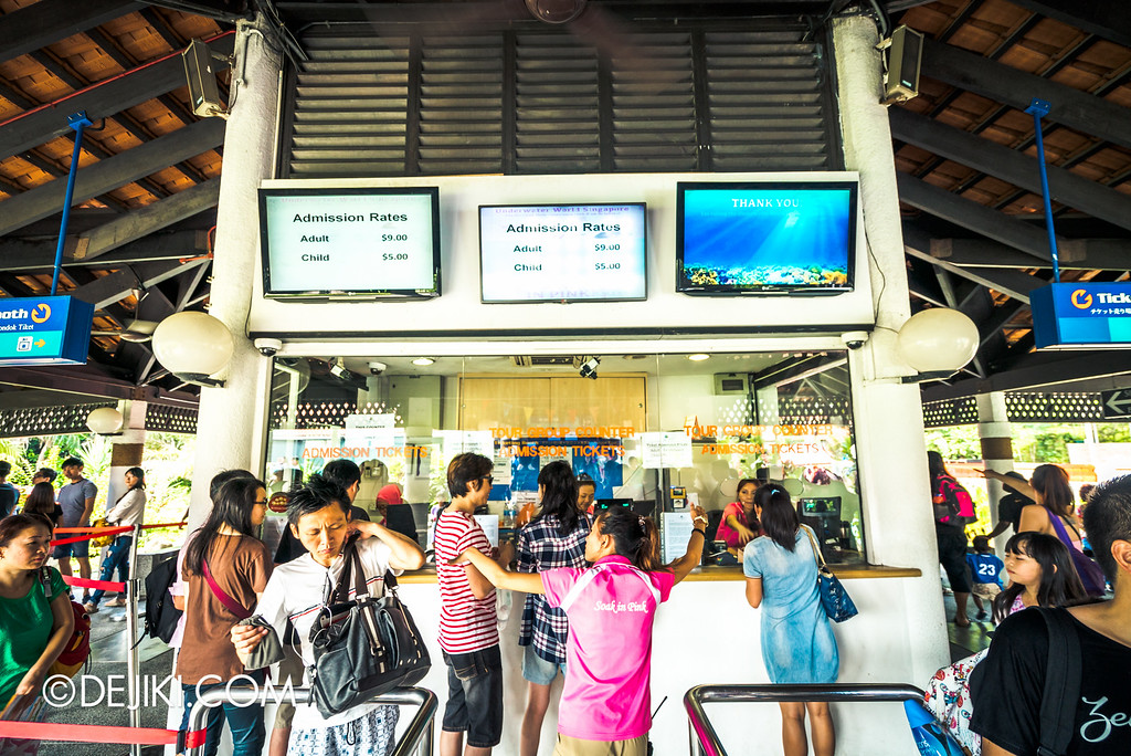 Underwater World Singapore - Ticketing booths