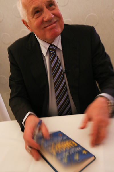 "Václav Klaus, president of the Czech Republic '03-'13, presented  the Danish edition of his book ""Europe: The Shattering of Illusions"", Hellerup, Denmark, 2014"