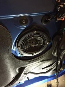 2014 BMW 428ix Front Door And Kick Panel Speaker Installation - USA
