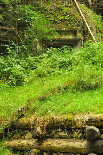 well-hidden WW II Italian bunker right off the trail!