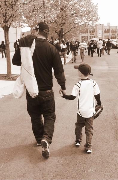 Matt and Col walking Sox.JPG