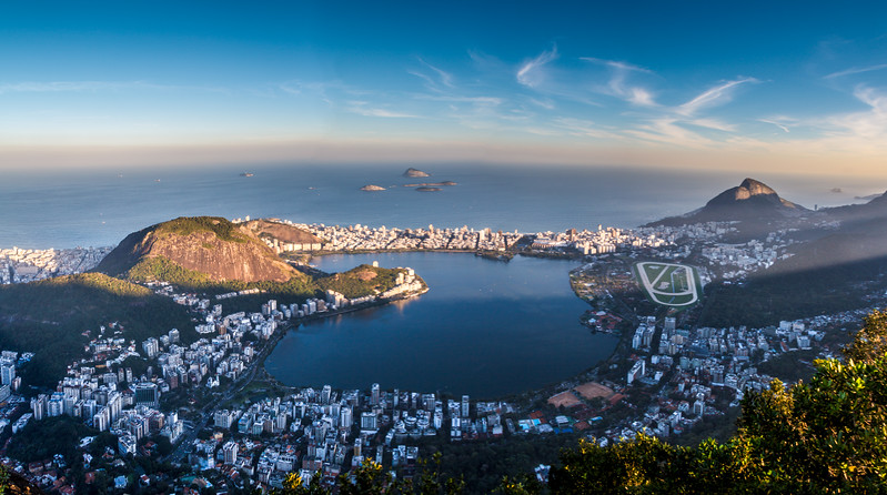 Stunning view on Rio Bay shot from Corcovado.