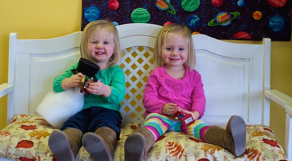Twins out for Brunch / Helping Mommy at Work - January 2015