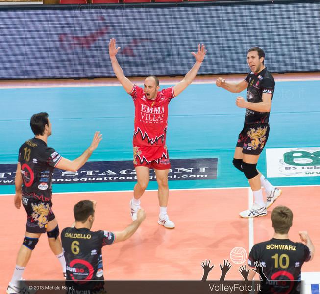 Vujevic Goran, Giovi Andrea, Petric Nemanja, Vujevic Goran, Daldello Nicola, Schwarz Sebastian (Piacenza)