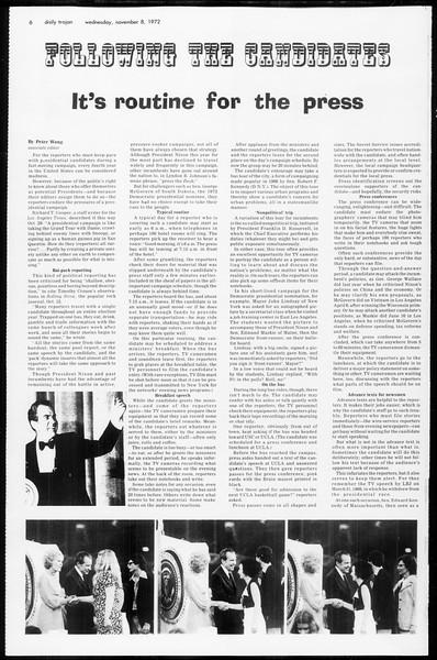 Daily Trojan, Vol. 65, No. 35, November 08, 1972