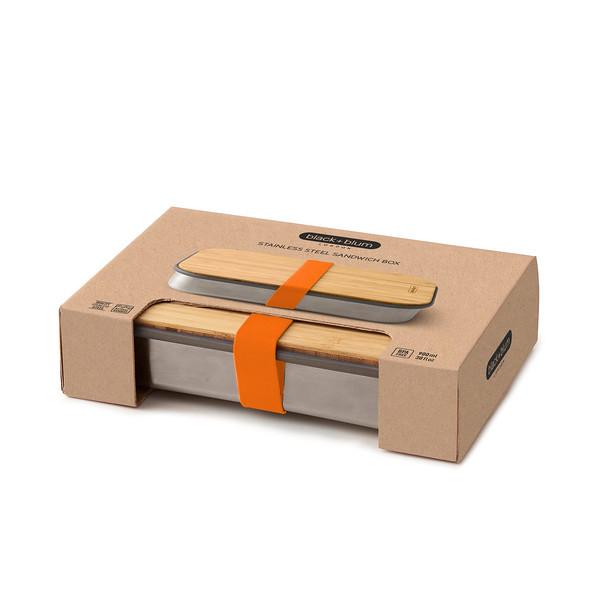 Stainless Steel Sandwich Box orange packaging Black Blum